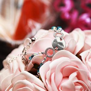 Molly - Elegant armband i sterlingsilver med Swarovski