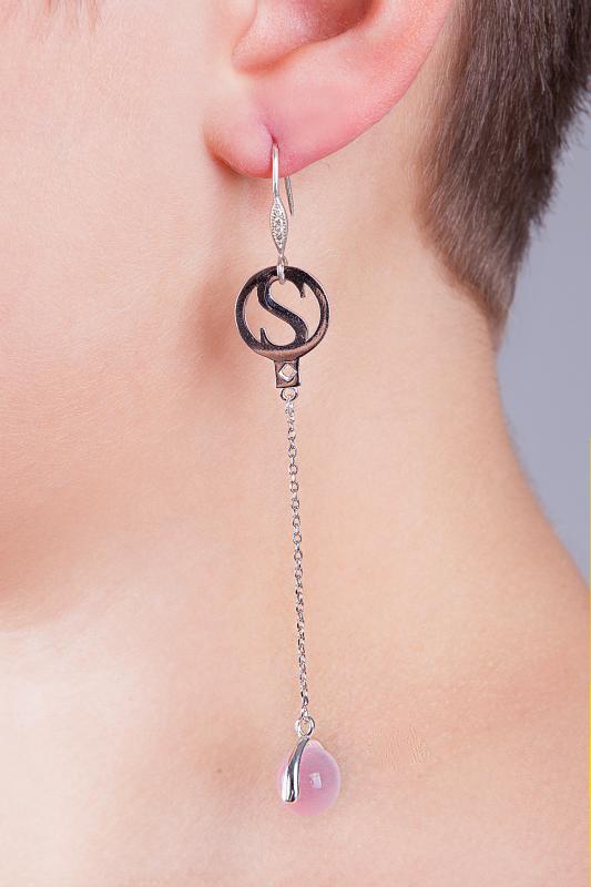 Roxy - örhängen i äkta sterlingsilver med syntetisk Opal