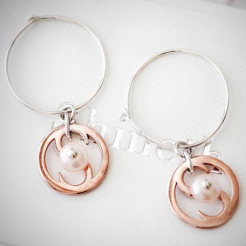 Amelia - örhängen i äkta sterlingsilver med rosa sötvattenpärlor