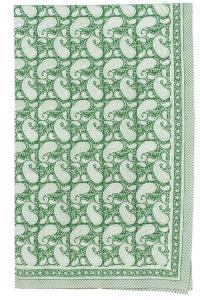 Bomullsduk Paisley Green - 150/230 cm
