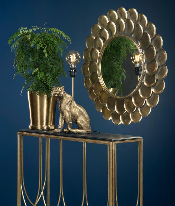 Spegel rund guld