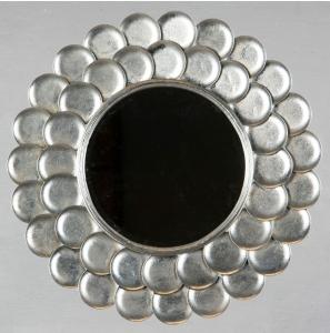 Spegel, rund, silver