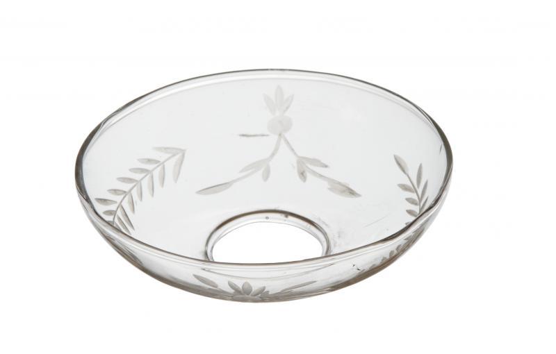 TINGLE,  ljusmanschett i klarglas med rågkärve