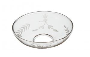 TINGLE,  ljusmanschett i glas med rågkärve