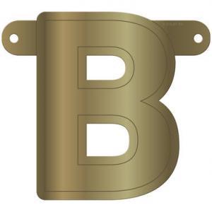 BANER/GIRLANG BOKSTAV B GULD METALLIC