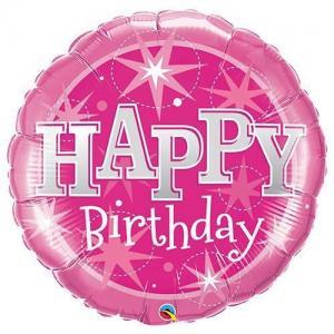 Folieballong 90cm sparkling pink