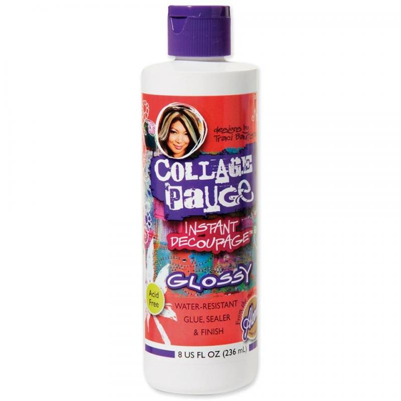 Collage Pauge - Instant Decoupage - GLOSSY (8oz, 236ml) - Aleenes