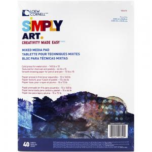 Simply Art Mixed Media Pad 9X12 - Loew Cornell