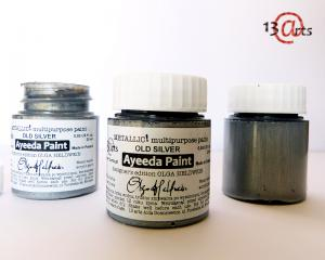 13 Arts Paint Metallic  OLD SILVER