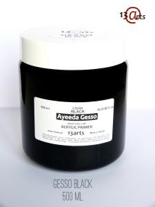 Gesso BLACK - Acrylic primer 500 ml - 13 Arts