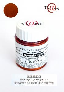 13 Arts Paint Metallic  RED BRONZE