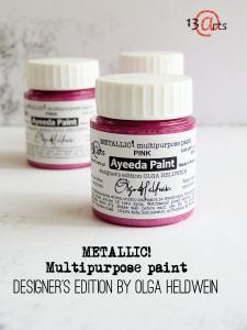 13 Arts Paint Metallic PINK
