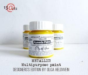 13 Arts Paint Metallic YELLOW