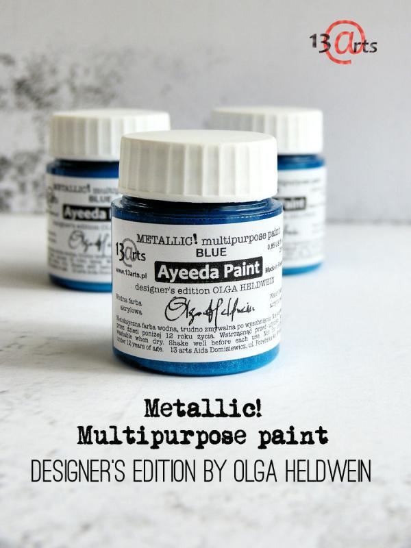 13 Arts Paint Metallic  BLUE