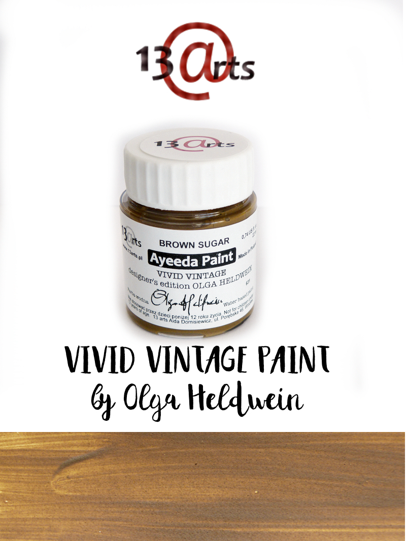 13 Arts Paint Vivid Vintage BROWN SUGAR
