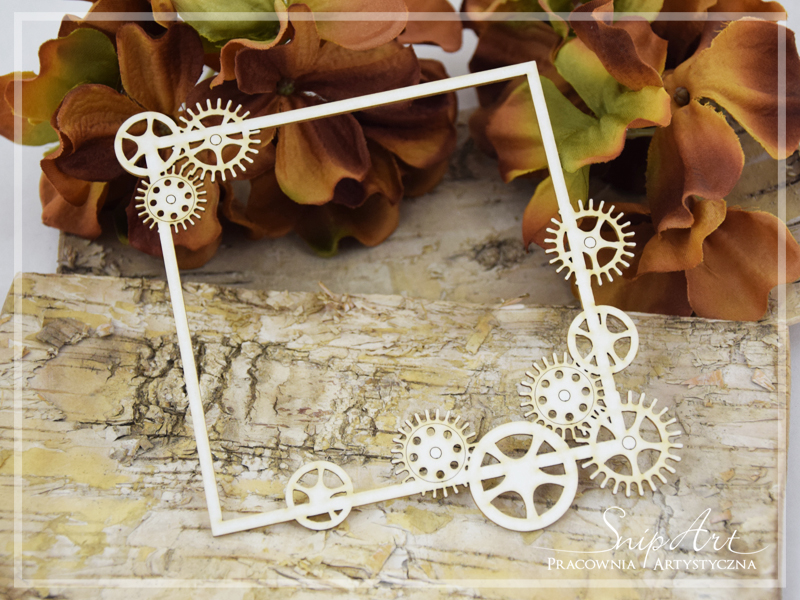 Steampunk Frame with cogs - SnipArt