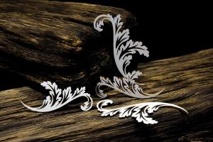 Baroque Garden - Ornaments Leaves - SnipArt