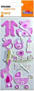 Stickers BABY GIRL - Scrap & Deco