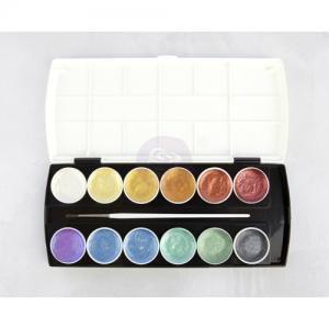 Art Philosophy Metallic Accents Semi-Watercolor Paint PASTELS - Prima Marketing