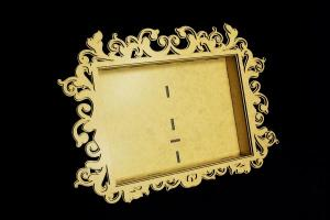 Baroque Garden – A rectangle frame 3D – MDF - SnipArt