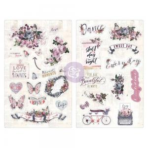 LAVENDER Chipboard Stickers - Prima Marketing