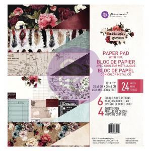 MIDNIGHT GARDEN 12x12 Paper Pad - Prima Marketing