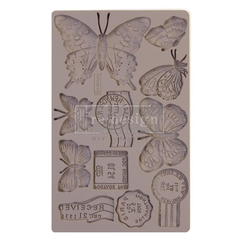BUTTERFLY IN FLIGHT Re-Design Decor Mould - Prima