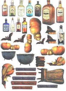 """Halloween Pumpkins""  - A4 Lasered Sheet - LaBlanche"