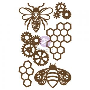 Decorative Chipboard - POWERFUL BEES - Prima