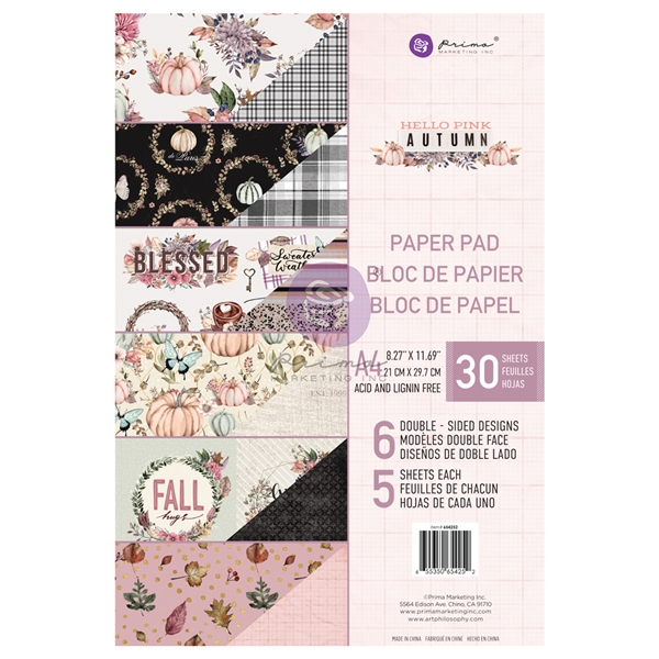 Hello Pink Autumn Collection - A4 Paper Pad - Prima