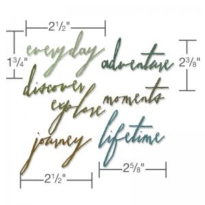 SIZZIX - Handwritten JOURNEY - Tim Holtz - Die
