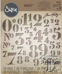 Sizzix Thinlits - Stencil Numbers - Tim Holtz