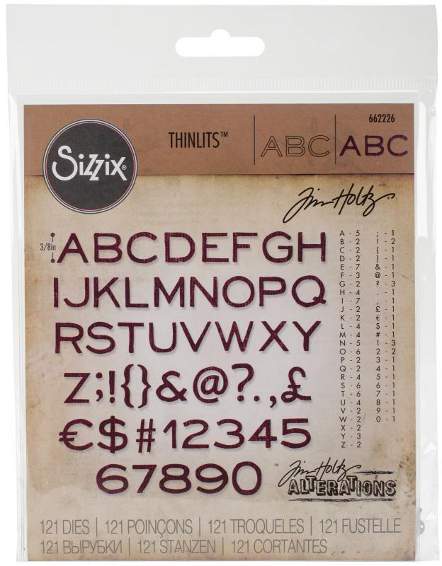 Sizzix Thinlits - ABC - Tim Holtz