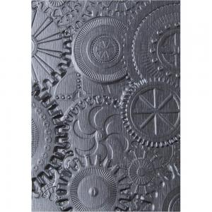 MECHANICS 3D Texture Fades Embossing Folder By Tim Holtz