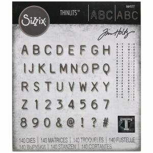 ALPHANUMERIC LABEL Thinlits - Tim Holtz - SIZZIX