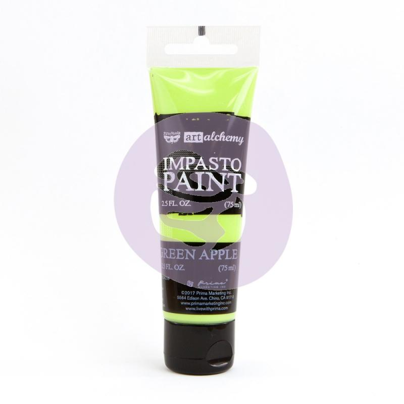 Impasto Paint GREEN APPLE - Finnabair
