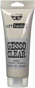Clear Gesso TUBE - Art Basics, Finnabair Prima