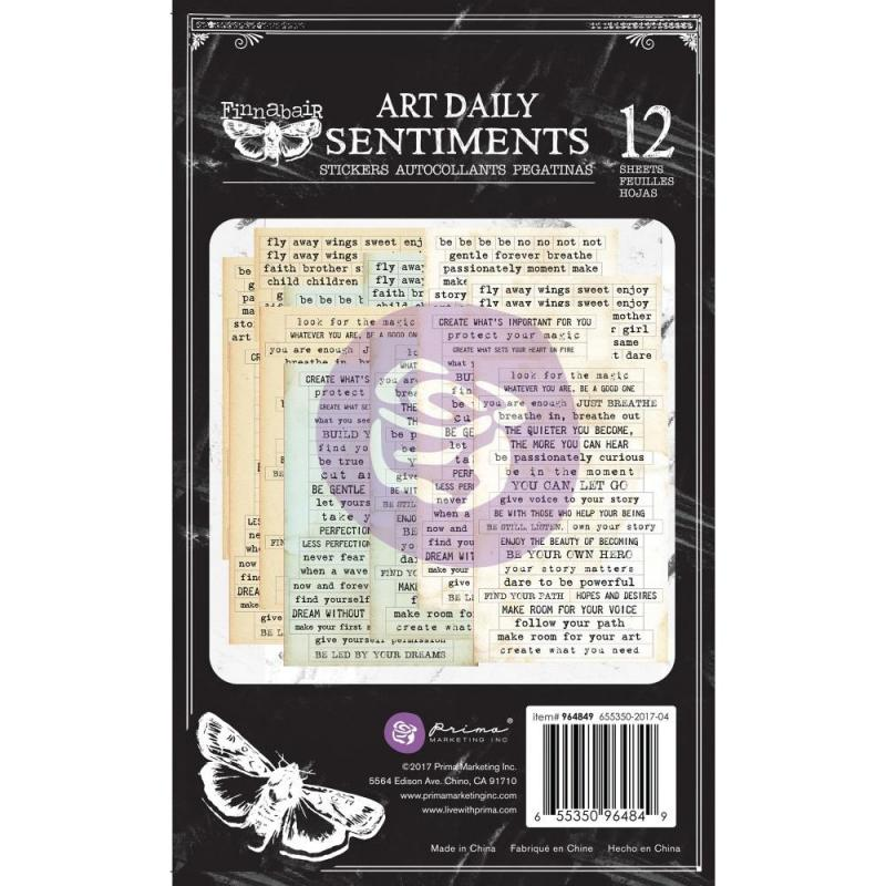 Art Daily SENTIMENTS Stickers Pad - Finnabair for Prima