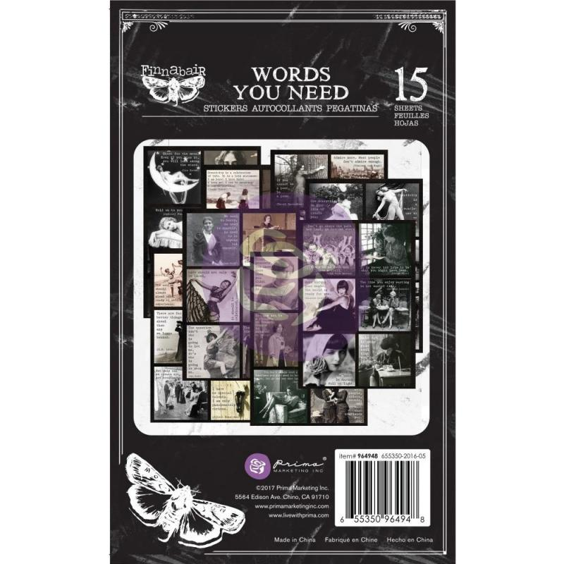Art Daily WORDS YOU NEED Stickers Pad - Finnabair for Prima