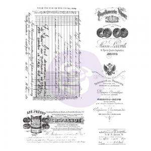 OLD PAPERWORK Finnabair Cling Stamp Set - Prima