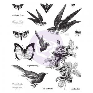WILD AND FREE Finnabair Cling Stamp Set - Prima