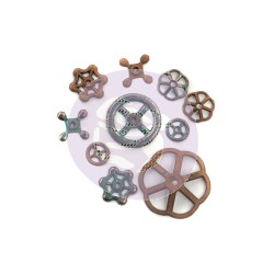 RUSTIC KNOBS Finnabair Mechanicals Set - Prima Marketing