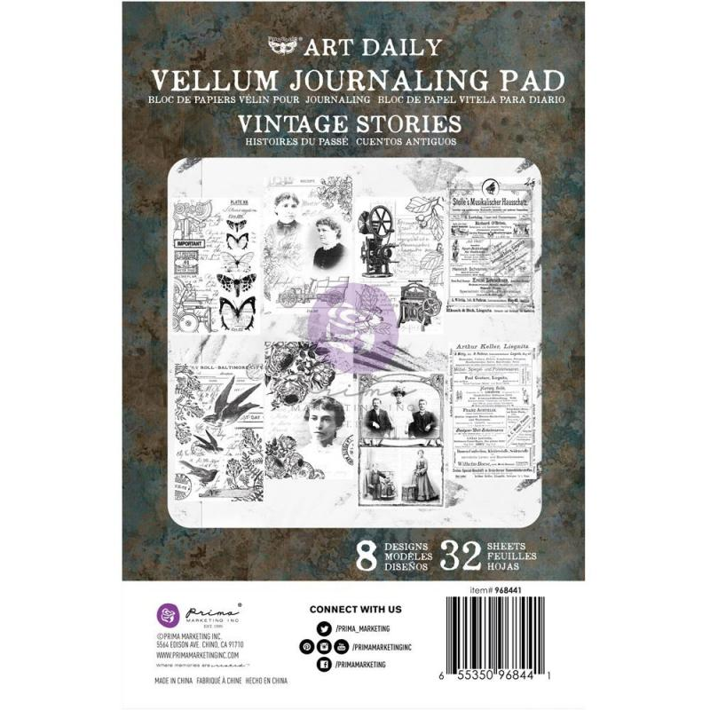 VINRAGE STORIES Finnabair Art Daily Vellum Pad