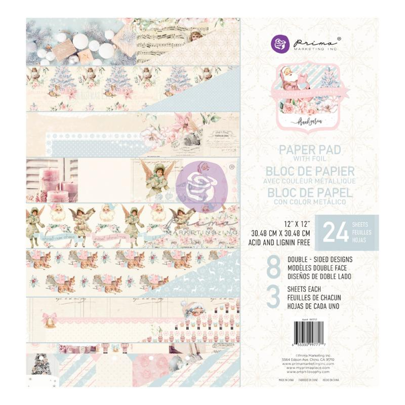 CHRISTMAS SPARKLE COLLECTION 12×12 Paper Pad - Prima