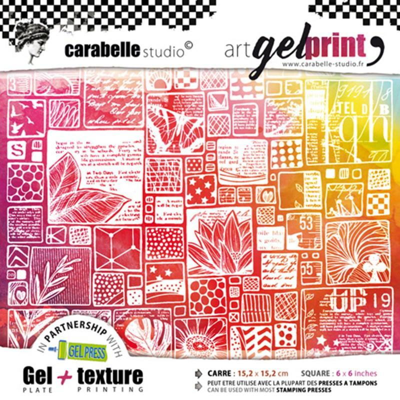"""La vie en images"" Kit Gel Plate & Texture 6''x6''  - Gel Press"