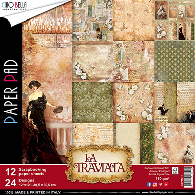La Traviata Collection 12x12 Paper Pad - Ciao Bella