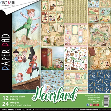 Neverland Collection 12x12 Paper Pack - Ciao Bella