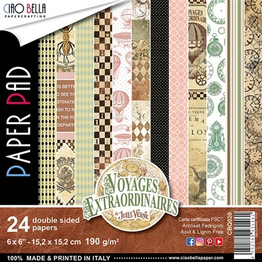 Voyages Extraordinaires Collection 6x6 Paper Pack - Ciao Bella