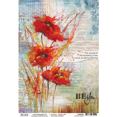 Rice Paper - The sound of spring - Poppies' dance - Ciao Bella
