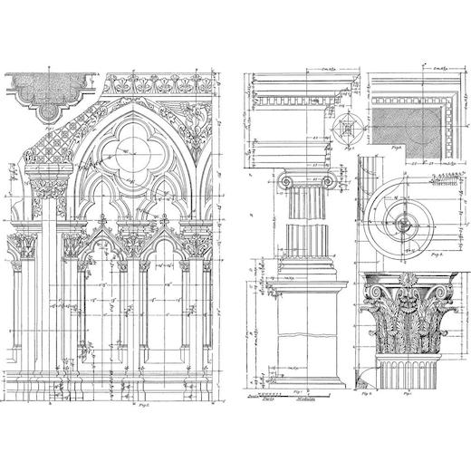 Cling Rubber Stamp ARCHITECTURE - Tim Holtz